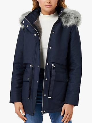Forever New Arianna Parka Jacket, Navy