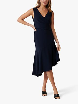 Forever New Cynthia Draped Midi Dress, Navy