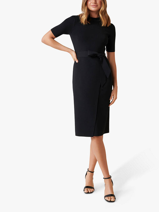 Buy Forever New Skye Knit Dress, Black, 14 Online at johnlewis.com