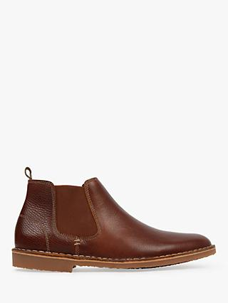 Bertie Cooperate Leather Chelsea Boots, Tan