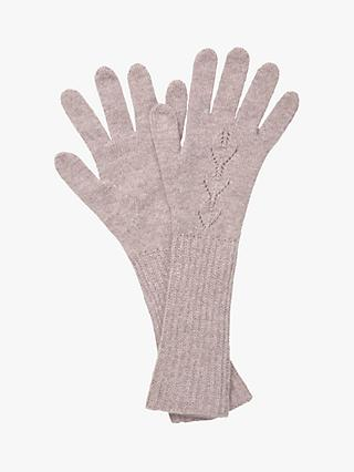 Brora Cashmere Long Pointelle Gloves