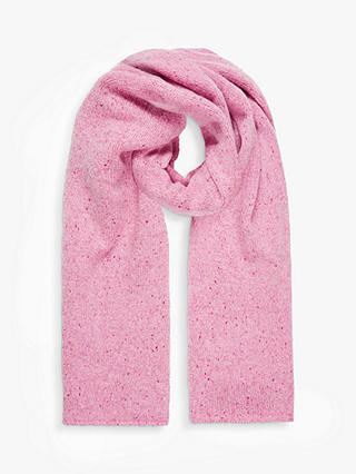 Buy Brora Cashmere Donegal Knit Scarf, Rose, One Size Online at johnlewis.com