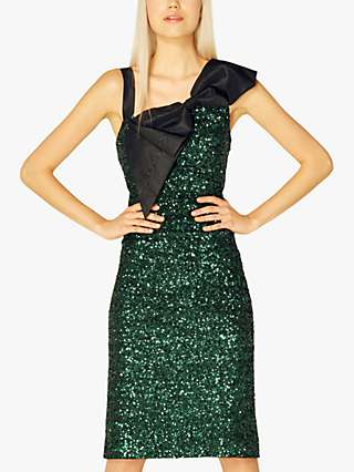 L.K.Bennett Kitt Embellished Dress, Forest Green