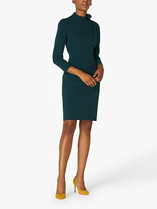 L.K.Bennett Nell High Neck Tailored Dress, Forest