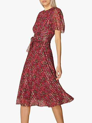 L.K.Bennett Eve Silk Rich Dress, Red