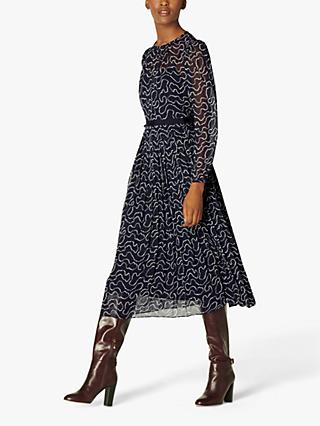 L.K.Bennett Avery Pearl Print Dress, Midnight