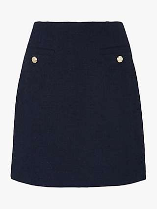 L.K.Bennett Highbury Tweed Skirt, Midnight