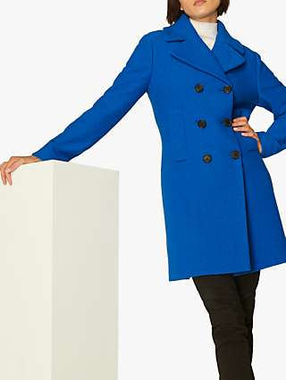 L.K.Bennett Robin Wool Coat, Electric Blue
