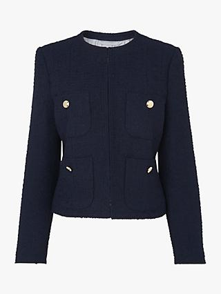 L.K.Bennett Highbury Tweed Jacket, Midnight