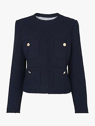L.K.Bennett Highbury Tweed Jacket, Midnight