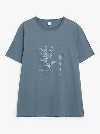 John Lewis & Partners Botanical Graphic T-Shirt, Navy