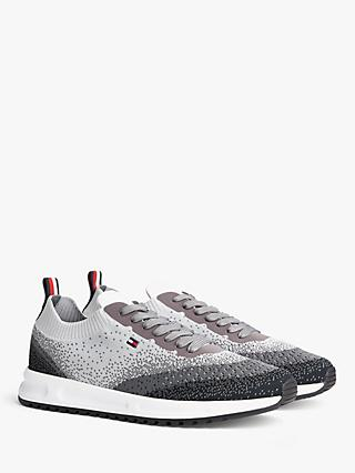 Tommy Hilfiger Modern Knit Runner Trainers, Pewter Grey