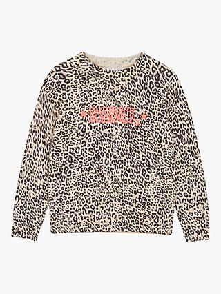 Mintie by Mint Velvet Girls' Olivia Animal Print Jumper, Multi