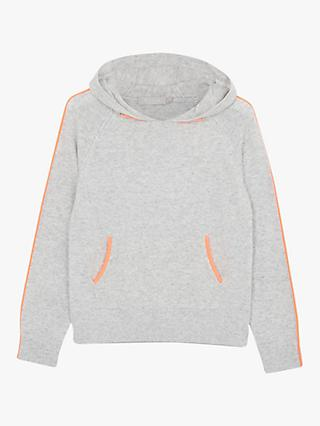 Mintie by Mint Velvet Star Back Hoodie, Grey/Orange