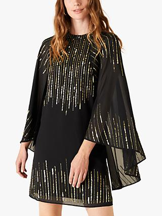 Monsoon Courtney Sequin Dress, Black