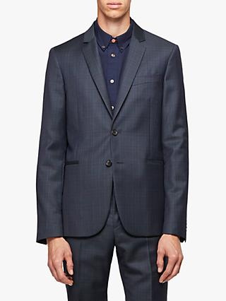 Paul Smith Wool Check Slim Fit Suit Jacket, Navy