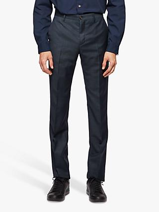 Paul Smith Wool Check Slim Fit Suit Trousers, Navy