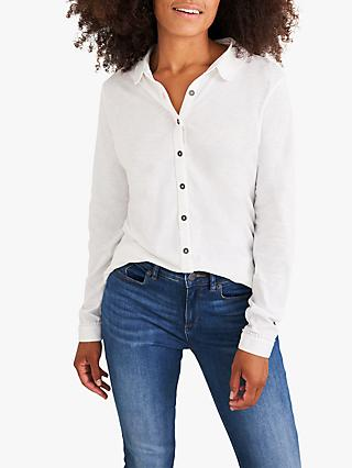 White Stuff Pom Trim Jersey Shirt, White