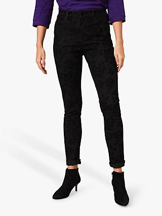 Phase Eight Rose Flocked Jeans, Black