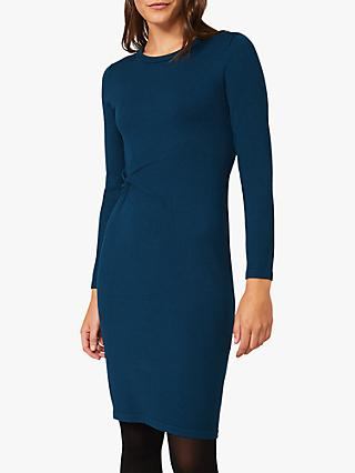 Phase Eight Danielle Twist Jersey Dress, Petrol