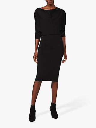 Phase Eight Ysabel Cowl Neck Knit Dress, Black