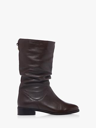 Dune Rosalindas Leather Calf Boots, Brown