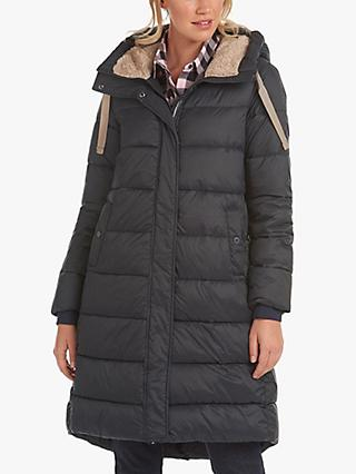 Barbour Cassins Quilted Longline Coat, Navy