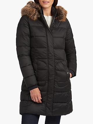 Barbour Bridled Quilted Longline Coat, Black