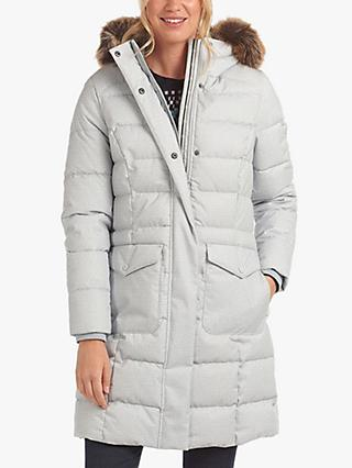 Barbour Guanay Quilted Longline Coat, Grey