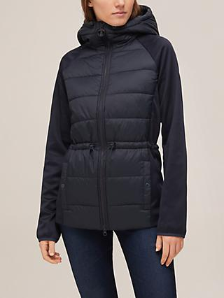 Barbour Prawle Quilted Hooded Jacket, Navy
