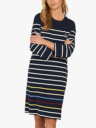 Barbour Longshore Striped Jersey Dress, Blue/Multi