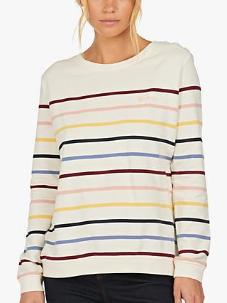 Barbour Ramble Stripe Jumper, Natural/Multi