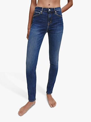 Calvin Klein Mid Rise Skinny Jeans, Amsterdam Blue