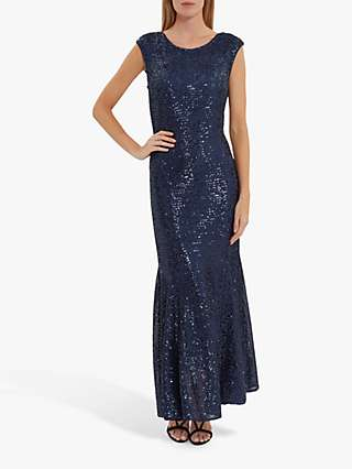 Gina Bacconi Basanti Embellished Maxi Dress