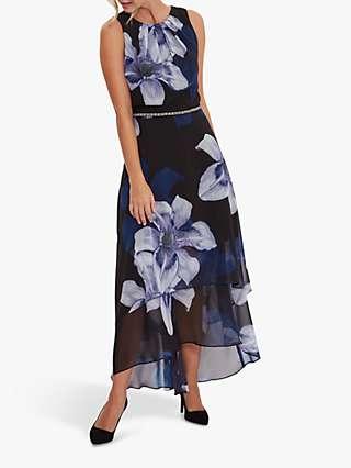 Gina Bacconi Amanda Floral Maxi Dress, Black/Multi