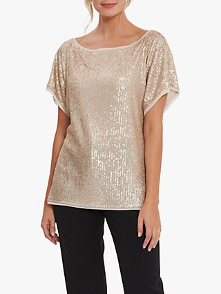 Gina Bacconi Lupe Stretch Embellished Top