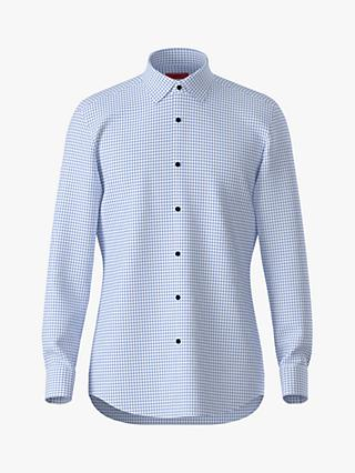 HUGO by Hugo Boss Kenno Check Slim Fit Shirt, Light/Pastel Blue