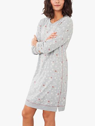 White Stuff Emily Sweatshirt Nightdress, Grey