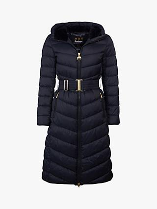 Barbour International Lineout Long Quilted Coat
