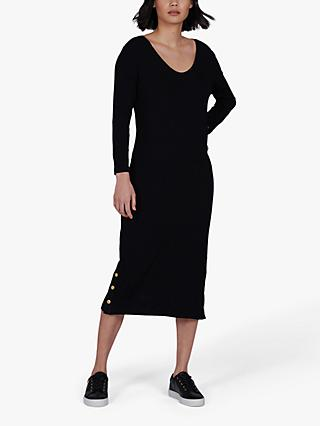 Barbour International Burnout Midi Dress, Black