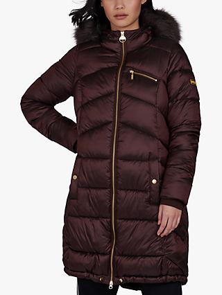 Barbour International Veith Quilted Hooded Jacket, Cocoa