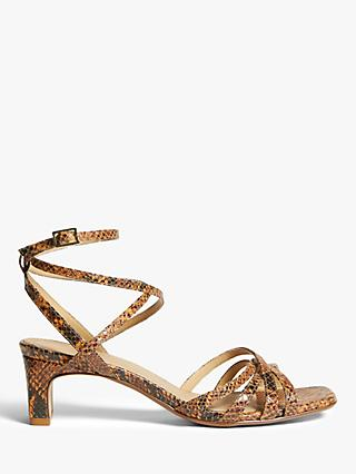John Lewis & Partners Marnie Block Heel Strappy Sandals