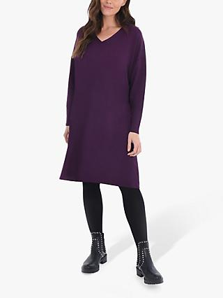 Live Unlimited Curve Knee Length Sweat Dress, Burgundy