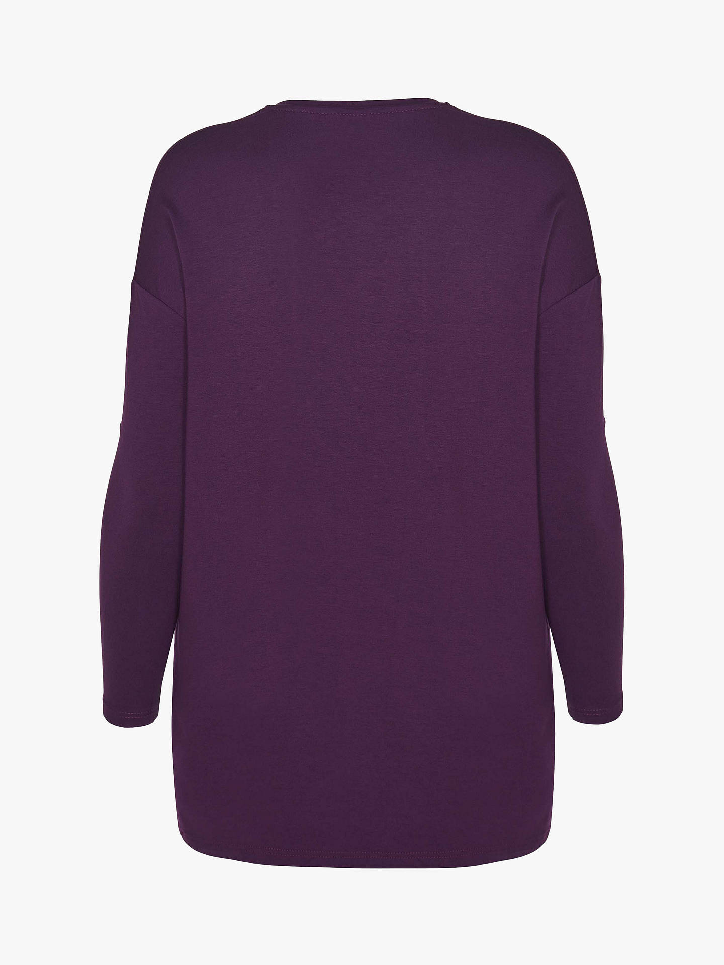 Buy Live Unlimited Curve V-Neck Top, Burgundy, 12 Online at johnlewis.com