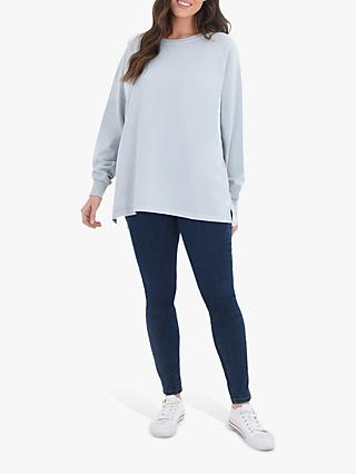 Live Unlimited Curve Cotton Sweatshirt, Grey