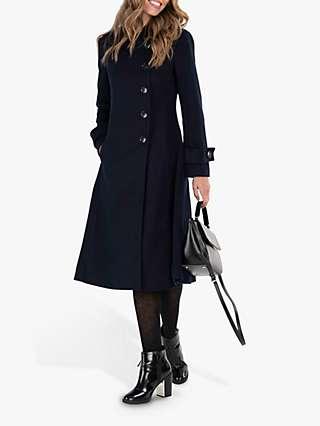 Jolie Moi Longline Asymmetric Button Coat