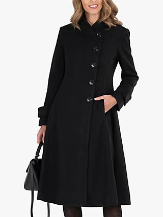Jolie Moi Longline Asymmetric Button Coat