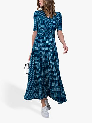 Jolie Moi Abstract Geometric Dress, Blue