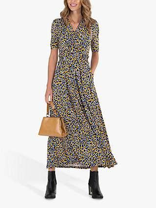 Jolie Moi Abstract Daisy Maxi Dress, Multi