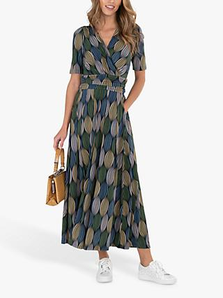 Jolie Moi Abstract Ovals Maxi Dress, Green